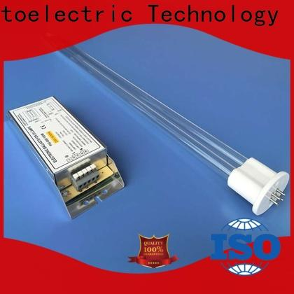 UVC ultraviolet germicidal lamp shaped auto-cleaning for water recycling