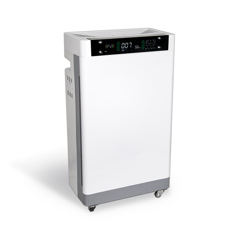 Side display air disinfector